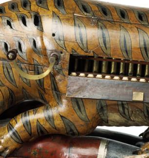 18 труб внутри тигрового органа