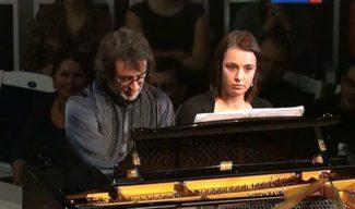 Юрий Башмет со своей дочерью, Ксенией