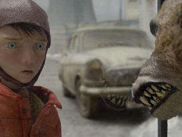 """Кадр из короткометражного анимированного фильма """"Петя и Волк"""""""