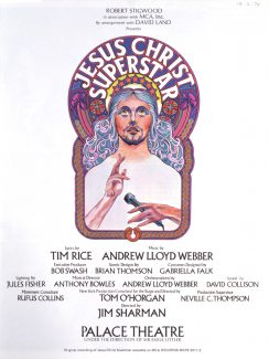 """Афиша """"Иисус Христос - суперзвезда"""", 1972 год"""