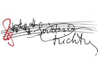 Святослав Рихтер. Автограф