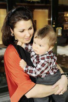 Анна Нетребко с сыном