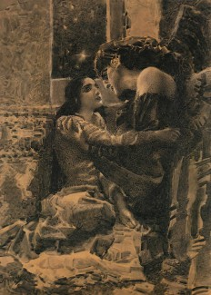 """Михаил Врубель. """"Тамара и Демон"""" иллюстрация к поэме Лермонтова. """"Я дам тебе все, все земное, Люби меня!..."""""""