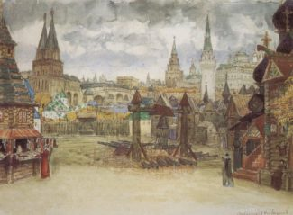 Эскиз декорации к опере М. П. Мусоргского «Хованщина» А. М. Васнецова