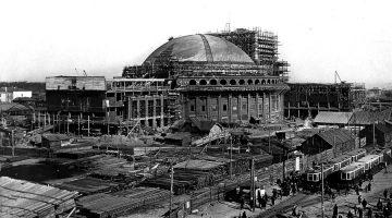 Строительство Новосибирского театра, 1935 год