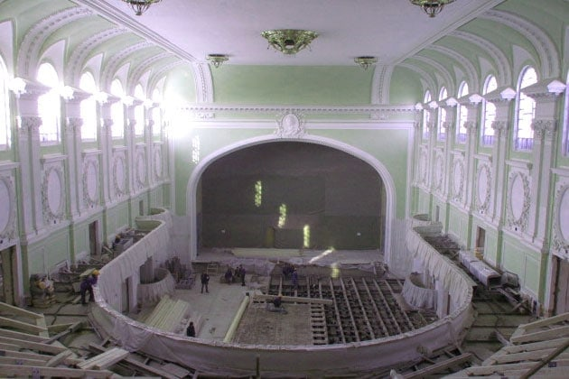 Реставрационные работы в Большом зале консерватории