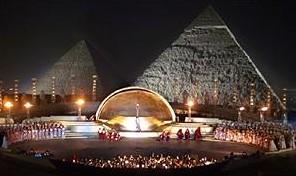 «Аида» у подножия пирамид в Гизе
