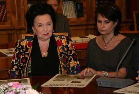 Галина Вишневская и Ольга Ростропович