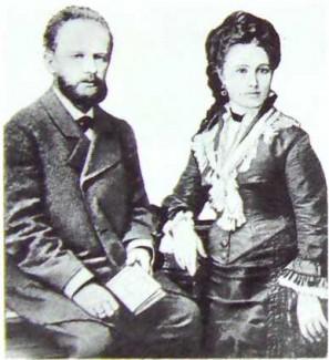 П. И. Чайковский с женой, А. И. Милюковой. 1877 год