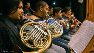 Иракские музыканты во время репетиции в Бонне