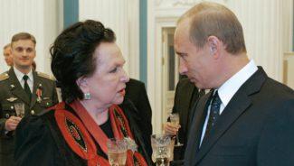 Галина Вишневская и Владимир Путин
