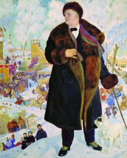 Портрет Шаляпина работы Кустодиева, 1921 год