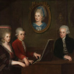 Портерет семьи Моцартов. Johann Nepomuk Della Croce (1736-1819), Музей Моцарта в Зальцбурге.