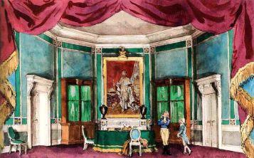 А. Бенуа - эскиз декорации к опере Дж. Верди «Бал-маскарад». Ла Скала, Милан (1947 год)