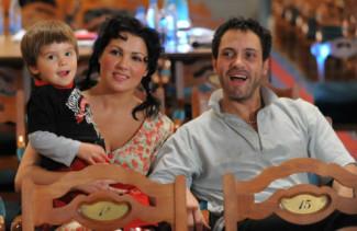 Анна Нетребко с сыном Тьяго и Эрвином Шроттом. Фото: ИТАР-ТАСС