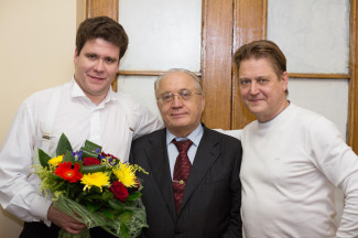 Денис Мацуев, Виктор Садовничий и Александр Сладковский. Фото: пресс-служба ГСО РТ