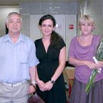 Анатолий Рябов, его ученица Ирина Чистякова и супруга Елена Гриневич