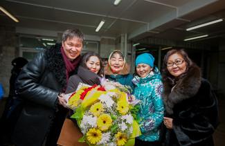 Аюна Базаргуруева с триумфом вернулась в Бурятию. Фото - Анна Огородник / UlanMedia