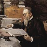 Портрет Римского-Корсакова работы В.А. Серова