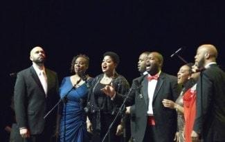 В Красноярске впервые выступил коллектив афроамериканских вокалистов. Фото - Андрей Минаев