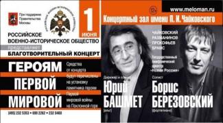 Московская филармония собрала деньги на памятник героям Первой мировой