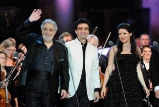 Пласидо Доминго, Роландо Вильясон и Анна Нетребко