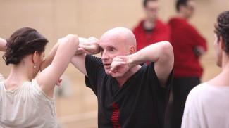 Жан-Кристоф Майо с балериной Марией Александровой на репетиции балета «Укрощение строптивой». Фото: Елена Фетисова