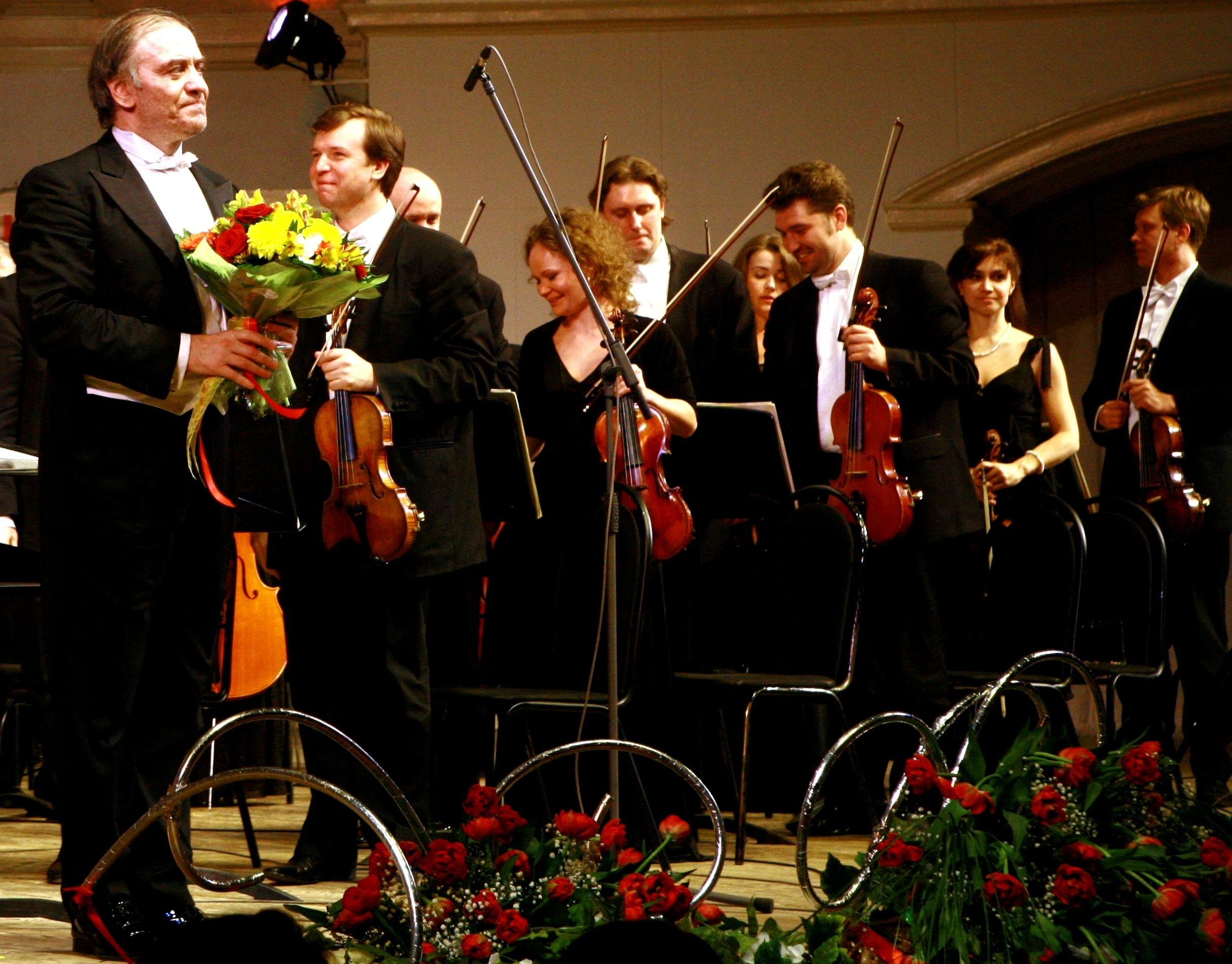 Валерий Гергиев и альтовая группа Мариинского театра