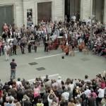Флешмоб классической музыки на площади