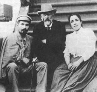 """Чайковский и супруги Фигнер, исполнители партий на премьере оперы """"Пиковая дама"""" (1890 год)"""