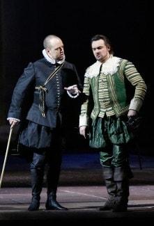 Дмитрий Белосельский (король Филипп) и Игорь Головатенко (Родриго ди Поза)