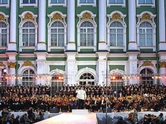 На Зимней площади выступил хор Королевской оперы Турина