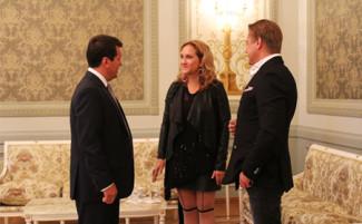 Симона Кермес и Сладковский на приеме у мэра Казани