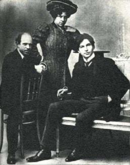 Пабло Казальс, певица Мари Гаи и Джордже Энеску (Бордо, 1904 год)