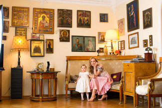 Илзе Лиепа с дочкой Надей
