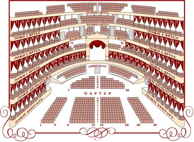 Схема зала Большого театра