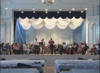 Репетиция оркестра. Ангарский филиал Иркутской филармонии