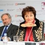 Тамара Синявская на пресс-конференции