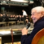 "Ю. П. Любимов на репетиции оперы ""Школа жён"""