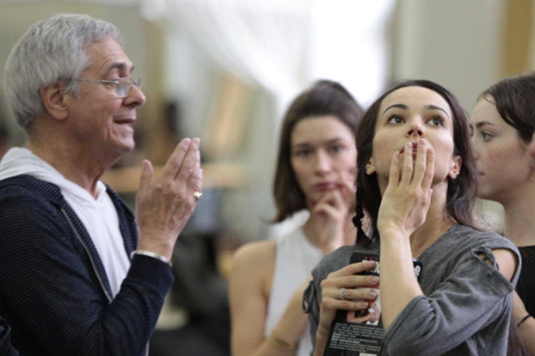 Джон Ноймайер и Диана Вишнева на репетиции. Фото - Олег Черноус