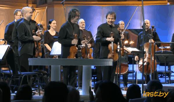 Церемония представления скрипок