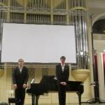 Иэн Бостридж и Джулиус Дрейк на сцене Большого зала Санкт-Петербургской филармонии