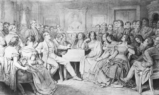 """Шубертиада"". Франц Шуберт в резиденции графини Каролины Эстерхази. Мориц фон Швинд,1868"