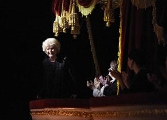 Елена Образцова во время концерта «Оперный бал», посвященного ее 75-летнему юбилею. Большой театр, 28 октября 2014 года