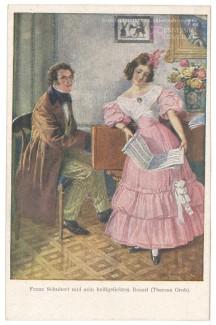 Франц Шуберт и Тереза Гроб
