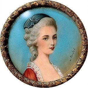 Констанца Моцарт, урожденная Вебер. Миниатюра 1782 года
