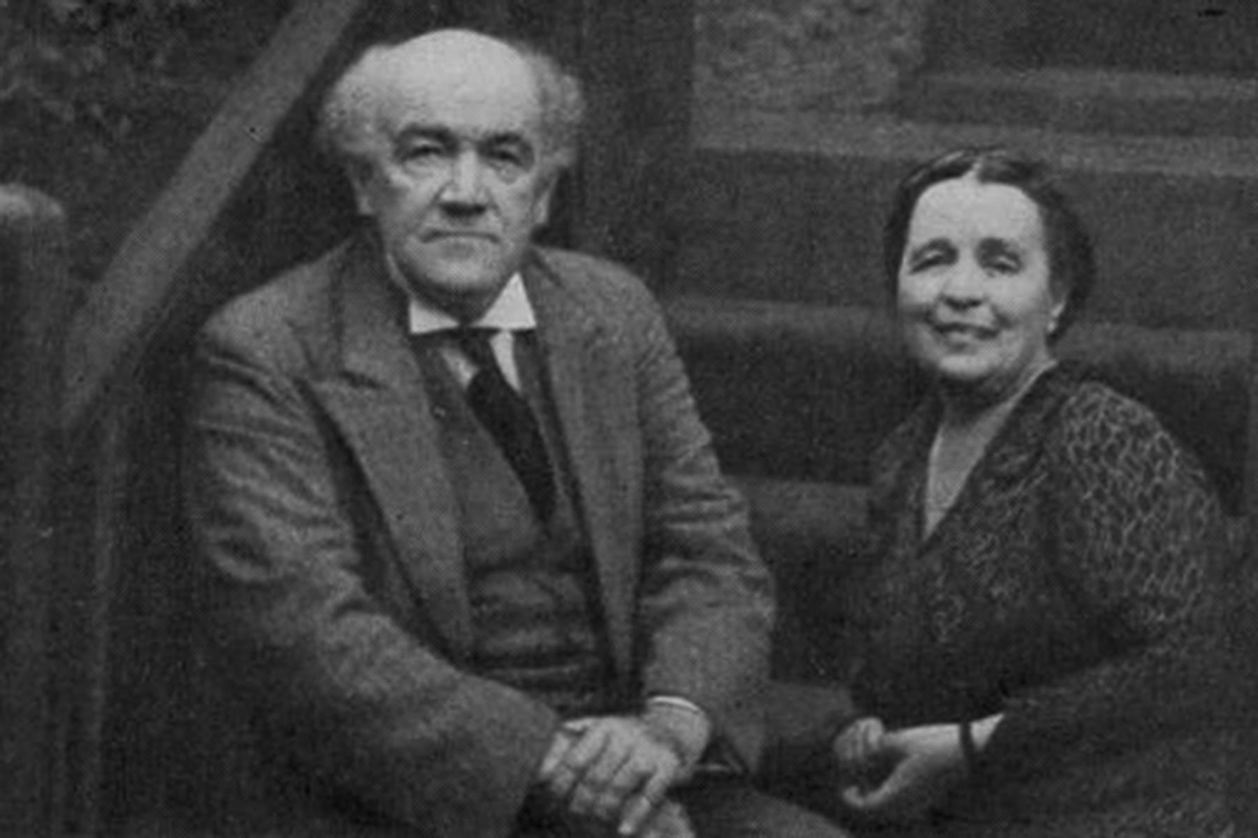 Николай Карлович Метнер и его жена, Анна Михайловна Метнер