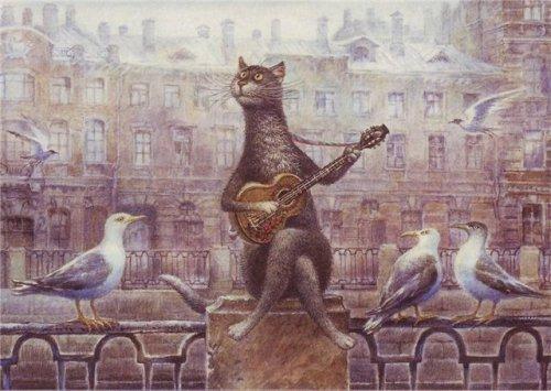 Хорошая музыка и кошке приятна