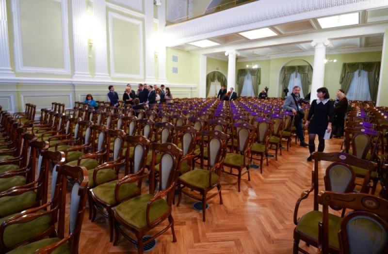 Малый зал Московской консерватории, открывшийся после реконструкции