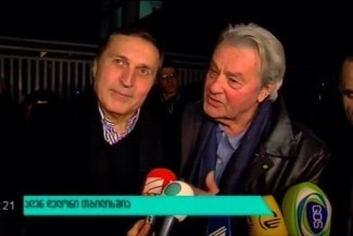 Паата Бурчуладзе и Ален Делон